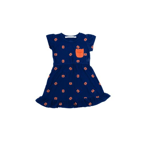 Chicka-d Toddler Girls' Auburn University Cap Sleeve Ruffle Dress