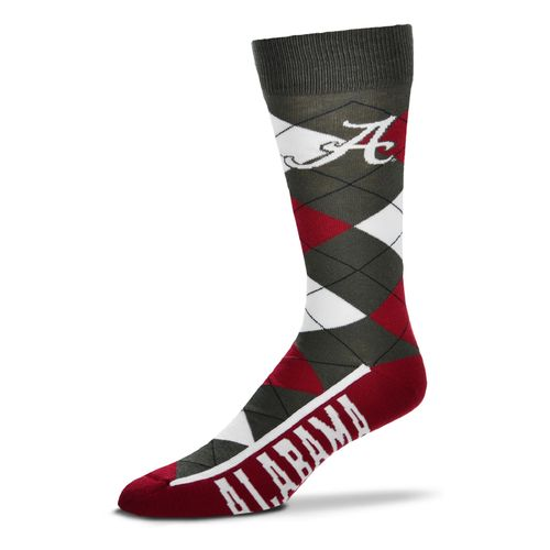 FBF Originals Men's University of Alabama Argyle Zoom Dress Socks