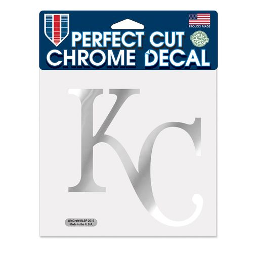 WinCraft Kansas City Royals Chrome Perfect Cut Decal