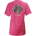 Three Squared Juniors' University of Texas at San Antonio Preppy Paisley T-shirt