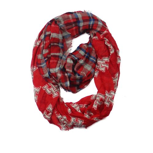 ZooZatz Women's University of Houston Tartan Infinity Scarf