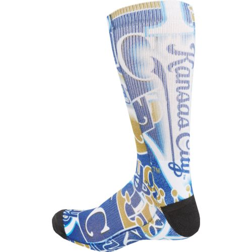 For Bare Feet Men's Kansas City Royals Flashback Sublimated Socks - view number 2