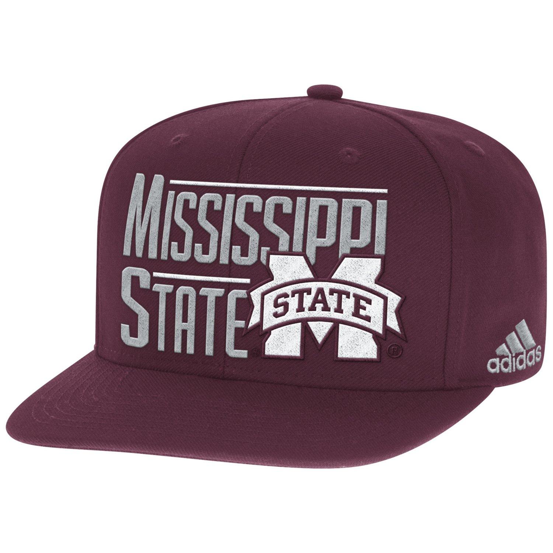 adidas™ Men's Mississippi State University 2-Tone Flat Brim Snapback Cap