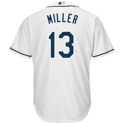 Majestic Men's Tampa Bay Rays Brad Miller #13 Cool Base Replica Jersey - view number 1