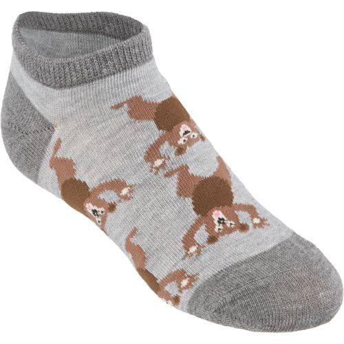 BCG™ Boys' Wooden Critter No-Show Socks 6 Pairs