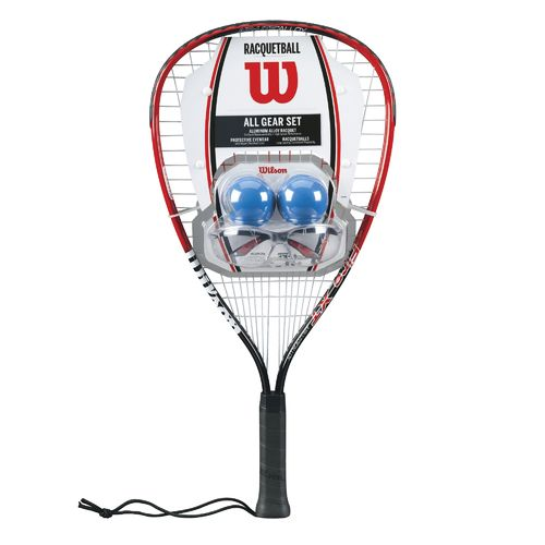 Display product reviews for Wilson™ All Gear Racquetball Set