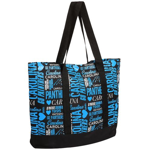 Team Beans Women's Carolina Panthers Collage Tote Bag