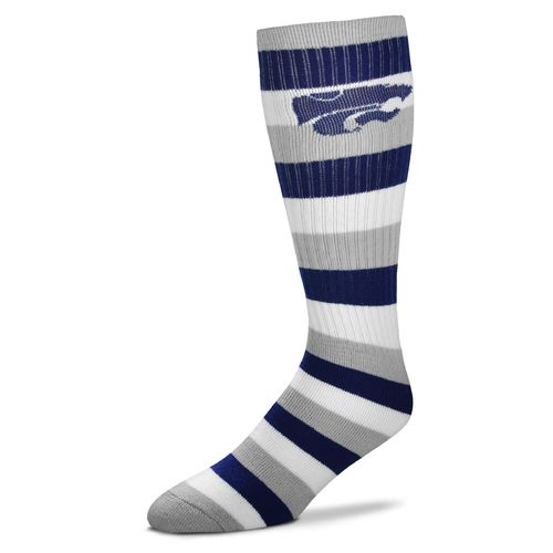 For Bare Feet Men's Kansas State University Pro Stripe Tube Socks