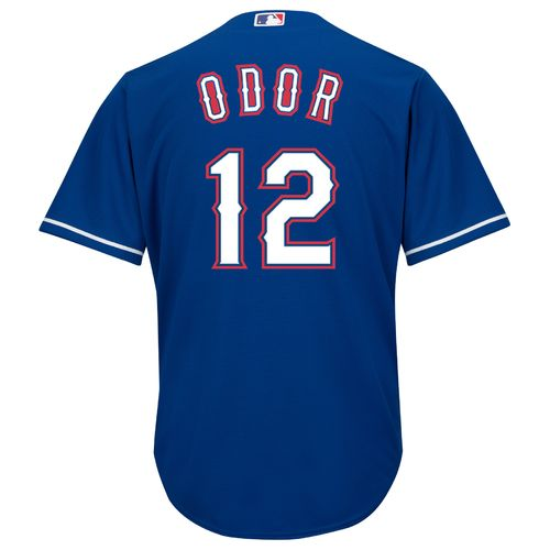 Majestic Men's Texas Rangers Rougned Odor #12 COOL BASE® Alternate Replica Jersey
