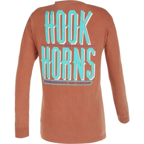 We Are Texas Women's University of Texas Hook Woodcut Long Sleeve T-shirt