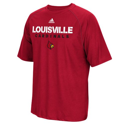 adidas™ Men's University of Louisville Sideline climalite® T-shirt - view number 1