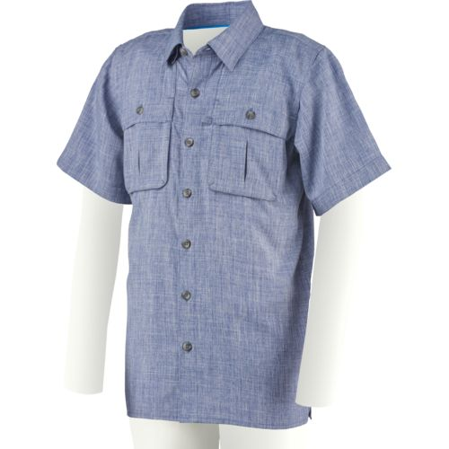 Magellan Outdoors Boys' Back Country Heathered Fishing Shirt
