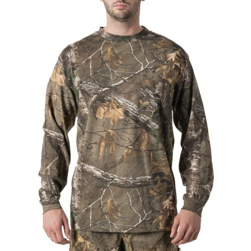 Walls Men's Long Sleeve Camo Pocket T-shirt