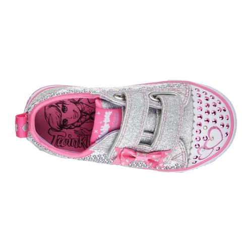 SKECHERS Toddlers' Twinkle Toes Shuffles Itsy Bitsy Casual Shoes - view number 5