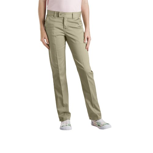 Dickies Girls' Slim Fit Straight Leg Stretch Uniform Pant