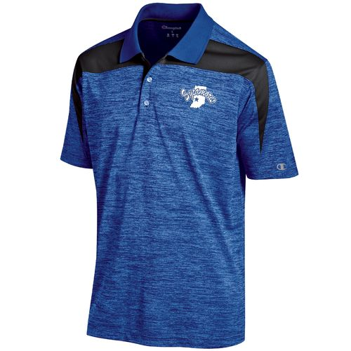 Champion™ Men's Indiana State University Synthetic Colorblock Polo Shirt