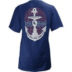 Three Squared Juniors' Louisiana Tech University Anchor Flourish V-neck T-shirt - view number 1