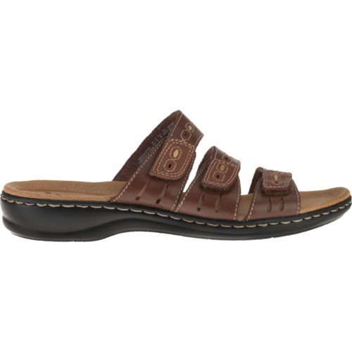 Clarks® Women's 3-Strap Adjustable Sandals