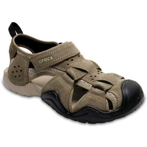 Crocs™ Men's Swiftwater Suede Fisherman Sandals - view number 2