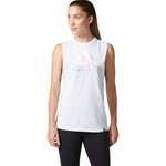 adidas Women's Badge of Sport Iridescent Mesh Muscle Tank Top - view number 2