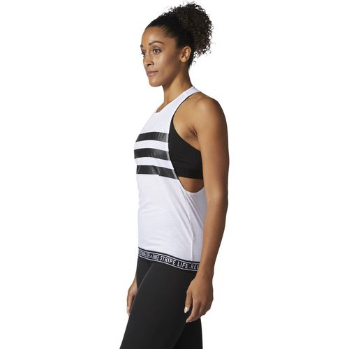 adidas Women's Three Stripe Life Tape Performer Tank Top - view number 3