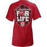 Three Squared Juniors' University of Louisiana at Lafayette Team For Life Short Sleeve V-neck T- - view number 1