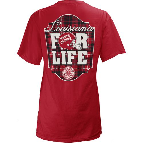 Three Squared Juniors' University of Louisiana at Lafayette Team For Life Short Sleeve V-neck T-