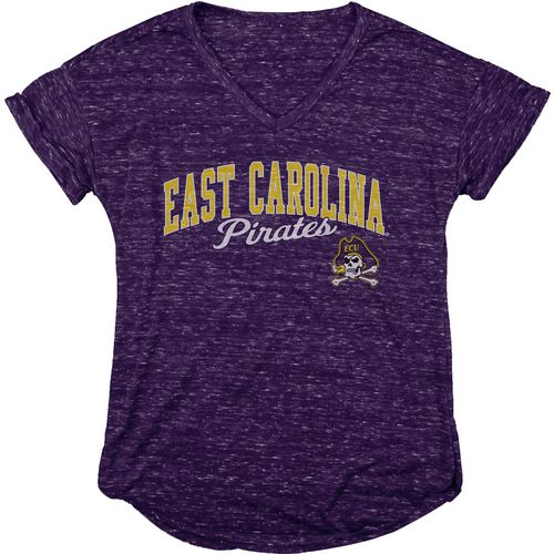 Blue 84 Women's East Carolina University Dark Confetti V-neck T-shirt - view number 1