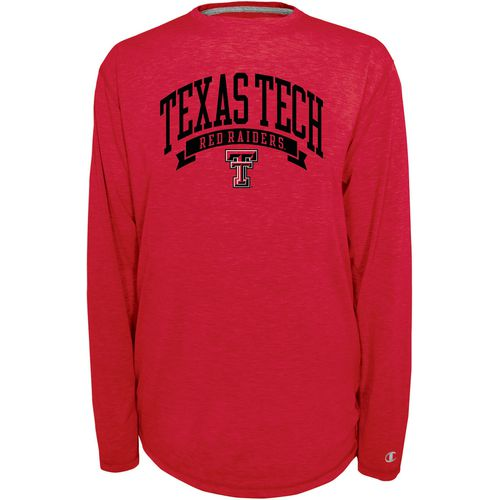 Champion Men's Texas Tech University In Pursuit Long Sleeve T-shirt