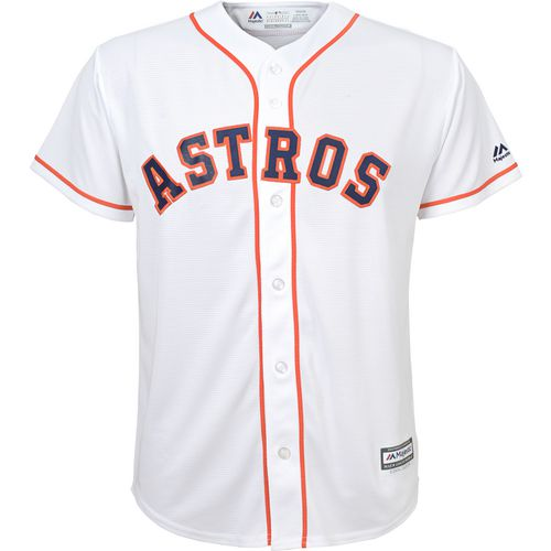 Majestic Boys' Astros Home Replica Baseball Jersey