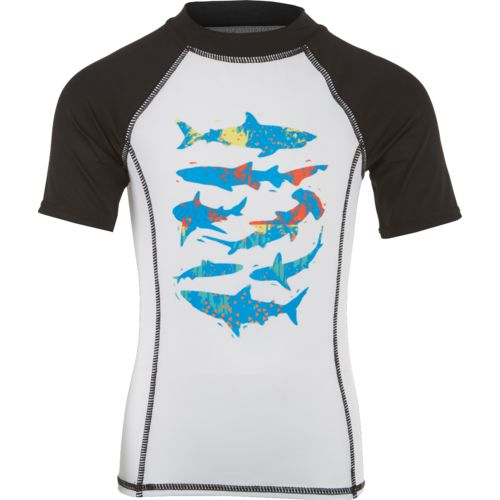 O'Rageous Boys' Printed Short Sleeve Rash Guard