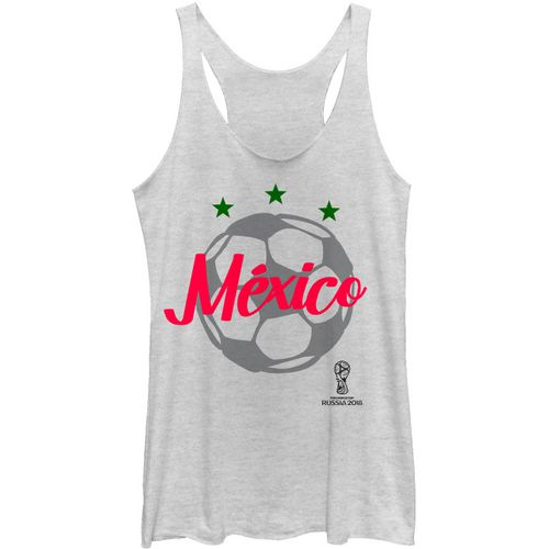Fifth Sun Women's Mexico Girl FIFA World Cup Russia 2018 Racerback Tank Top - view number 1