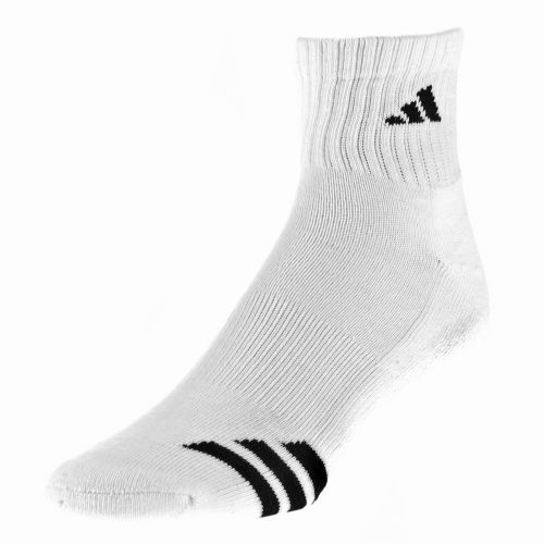 adidas Men's Cushioned 3-Stripe Quarter Socks 3-Pack