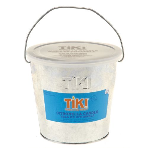 Lamplight® Tiki 17 oz. Galvanized Citronella Bucket