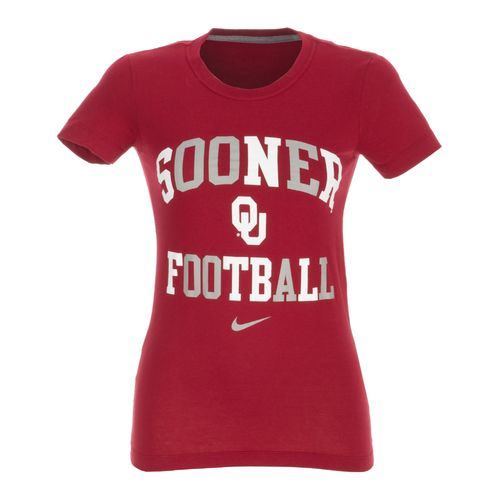 Nike Women's University of Oklahoma Gridiron Short Sleeve T-shirt