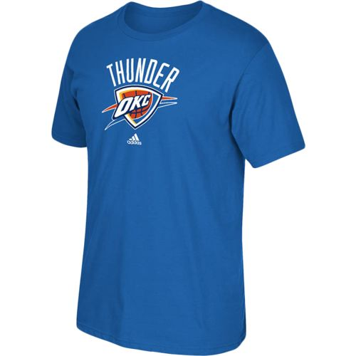 adidas Men's Oklahoma City Thunder Full Primary Logo T-shirt