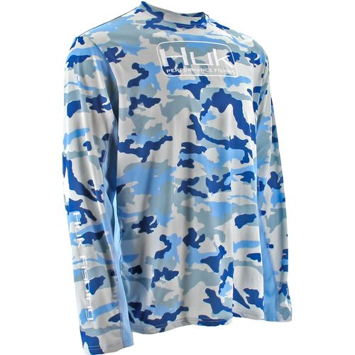 Huk men 39 s cooling series camo performance icon long sleeve for Huk fishing clothing