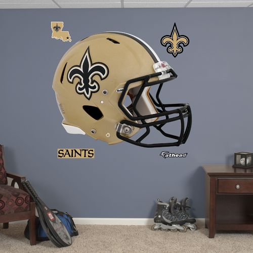 Fathead New Orleans Saints Helmet and Team Decals 5-Pack