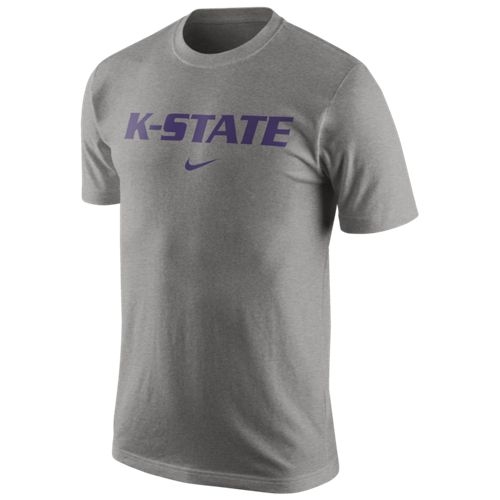 Nike™ Men's Kansas State University Wordmark Cotton T-shirt