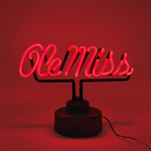 AES Optics University of Mississippi Table Top Neon Light