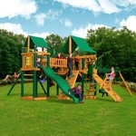 Gorilla Playsets™ Pioneer Peak Swing Set with Timber Shield™ and Deluxe Vinyl Canopy - view number 2