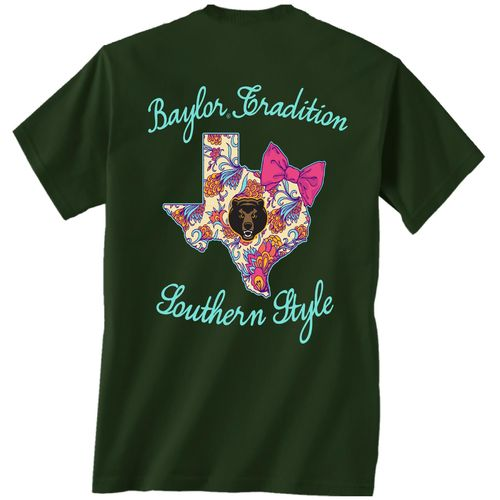 New World Graphics Women's Baylor University Bright Bow T-shirt