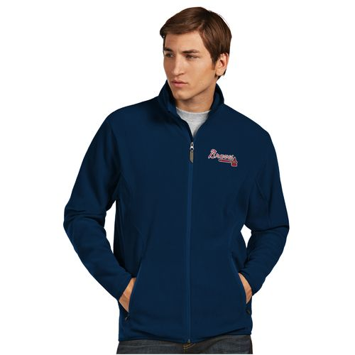 Antigua Men's Atlanta Braves Ice Fleece Jacket