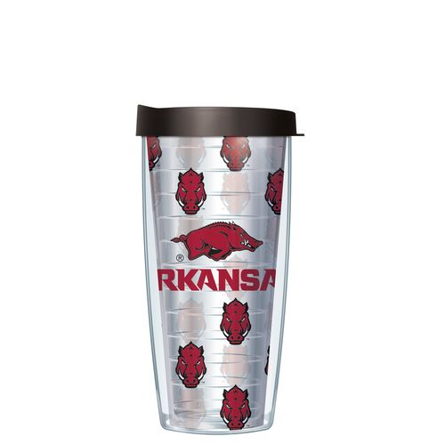 Signature Tumblers University of Arkansas 16 oz. Repeated Pattern Traveler Insulated Tumbler