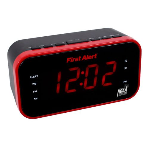First Alert AM/FM Weather Band Clock Radio