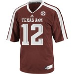 adidas™ Men's Texas A&M University 12th Man Replica Away Football Jersey