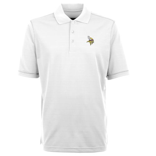 Antigua Men's Minnesota Vikings Icon Short Sleeve Polo Shirt