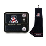 Team Golf University of Arizona Embroidered Towel Tin Gift Set