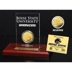 The Highland Mint Boise State University Gold Coin Etched Acrylic