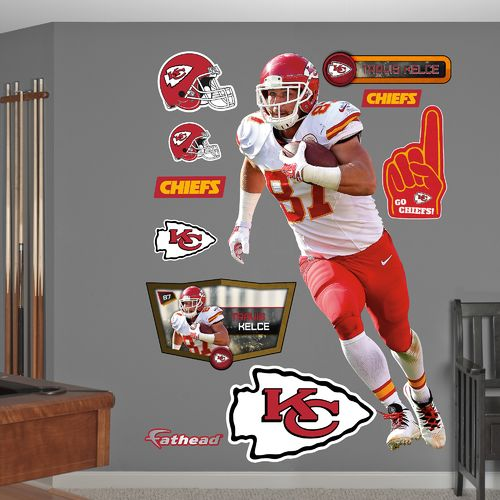 Fathead Kansas City Chiefs Travis Kelce Away Real Big Wall Decal